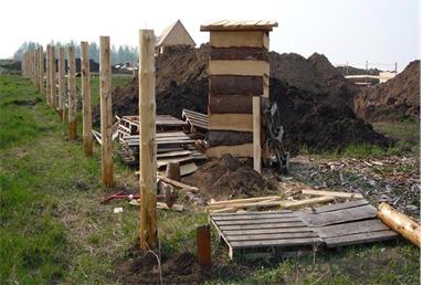 Столбы из древесины