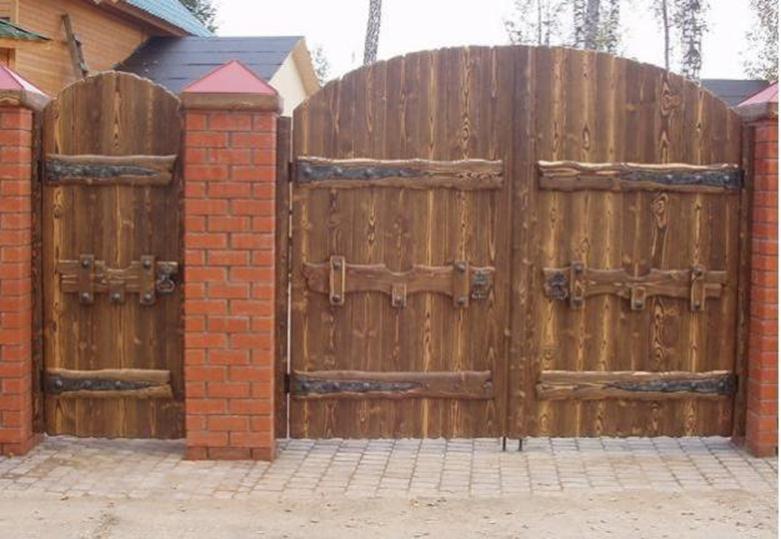 Деревянные ворота фото своими руками