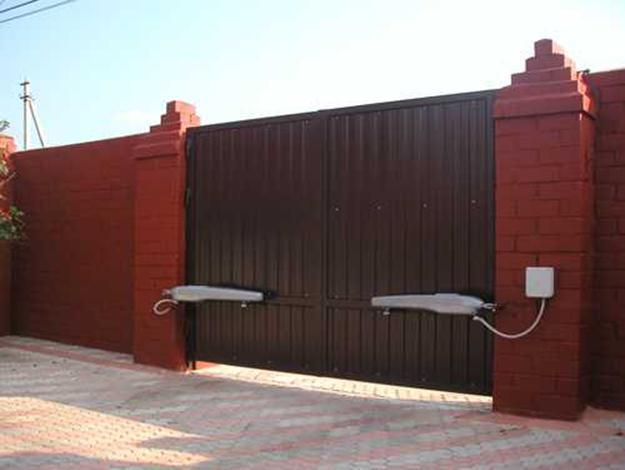 Ворота с автоматическим приводом своими руками