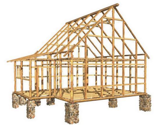 Будущий деревянный дом