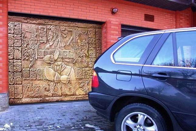 Стильный въезд в гараж