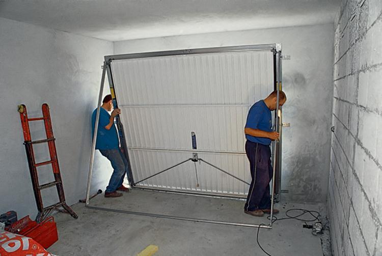 Полотно секционных ворот