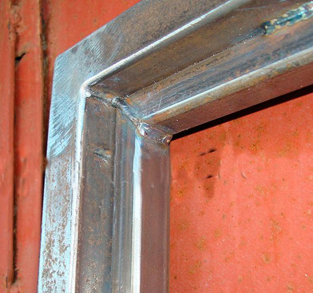 Двери из квадратной трубы своими руками
