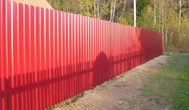 Ограда из гофралиста
