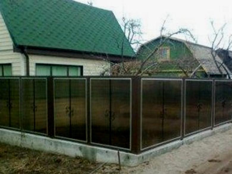 Соверменная полупрозрачная ограда