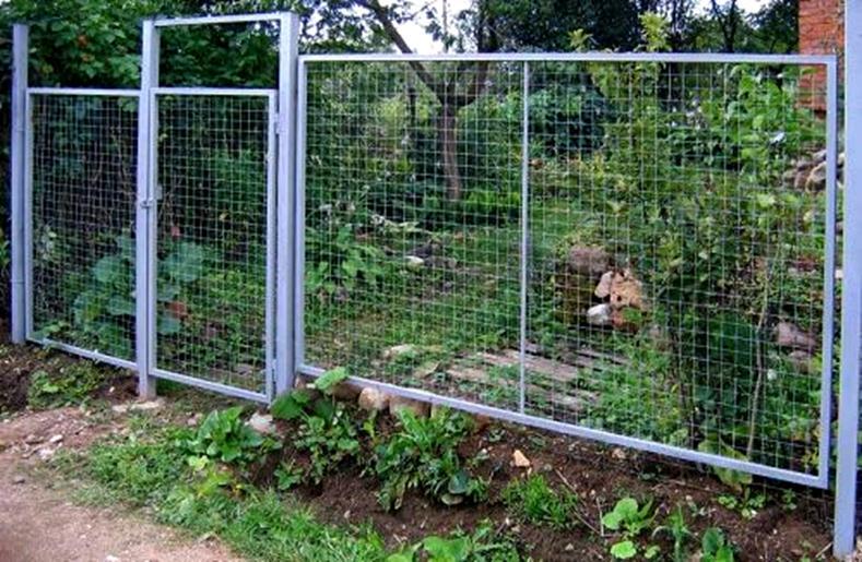 Ограда и ворота из сварной сетки