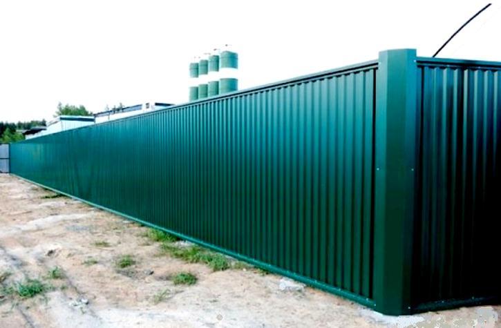 Забор из профлистов