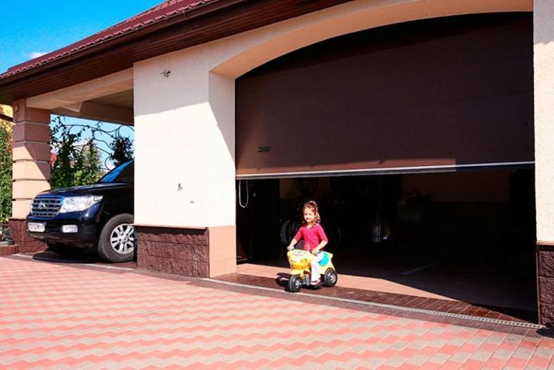 Современный гаражный портал