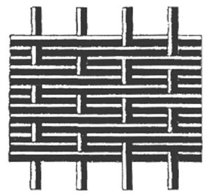 Сетка с густым расположением поперечных нитей